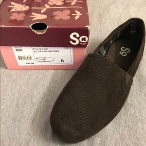 SO Shoes - Like new Brown Corduroy slip on shoes by SO.